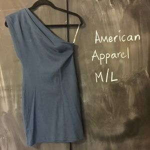 "American Apparel ""Classic Girl"" One-Shoulder Dress"